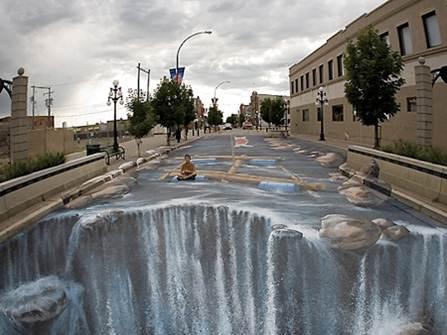 Una calle inundada