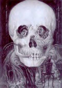 ¿Un cráneo o un par de personas?