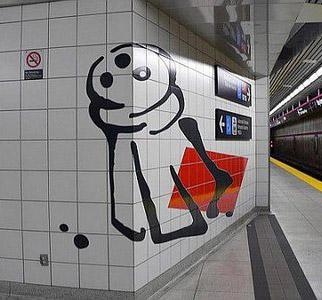 Un salero en el metro