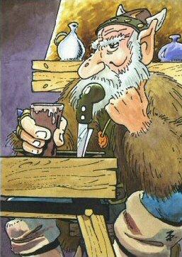 El vikingo en un bar