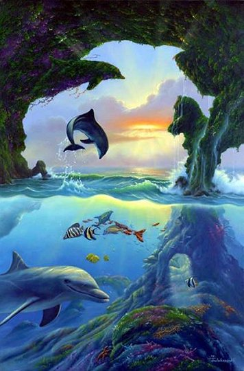 Encuentra 7 delfines