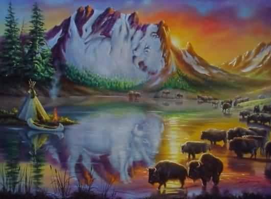 ¿Cuántos bisontes puedes contar?