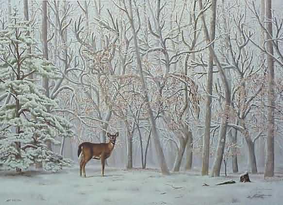 Encuentra al ciervo junto a la cierva